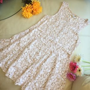 Free People ivory Miles of Lace dress